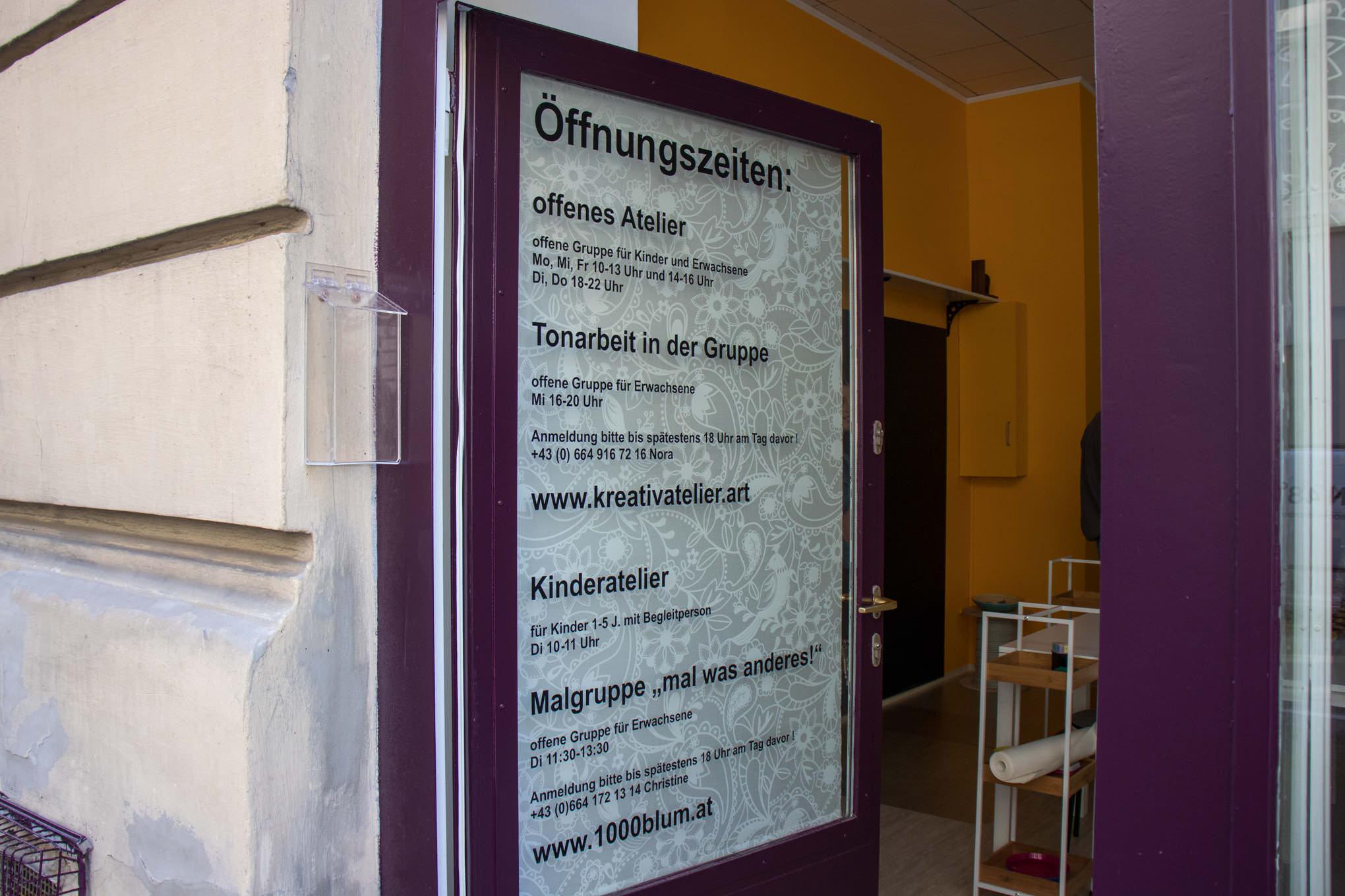 Kreativatelier Hahngasse - Eröffnung